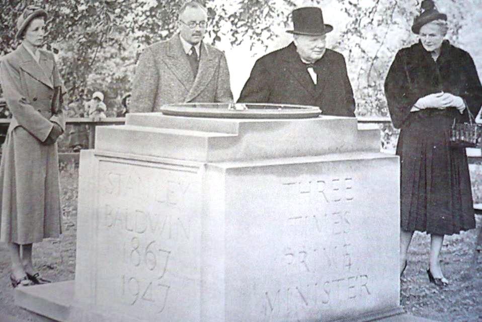 Winston Churchill at Baldwin memorial