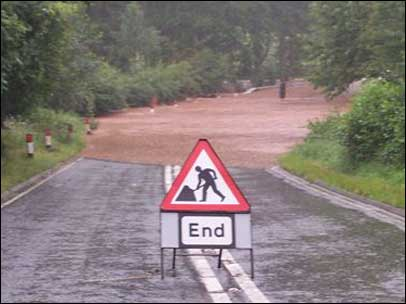dick brook in flood